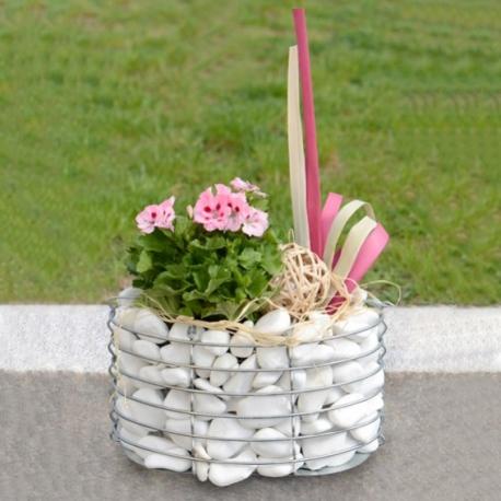 gabiónový kvetináč - ovál