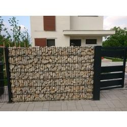gabiónový plot antracit - sekcia 1,0 x 2,5m
