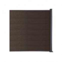 WPC plotový set orech, drevený vzor 1