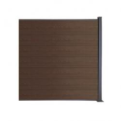 WPC plotový set hnedá, drevený vzor 1