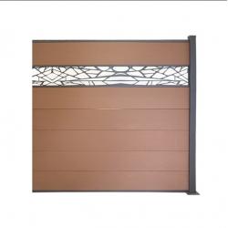 WPC plotový set hnedá 2