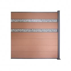 WPC plotový set hnedá 3