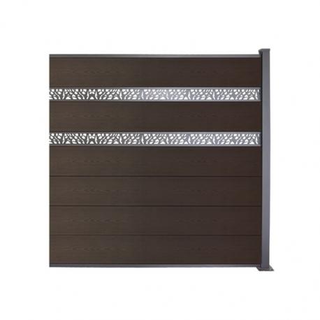WPC plotový set orech, drevený vzor 3